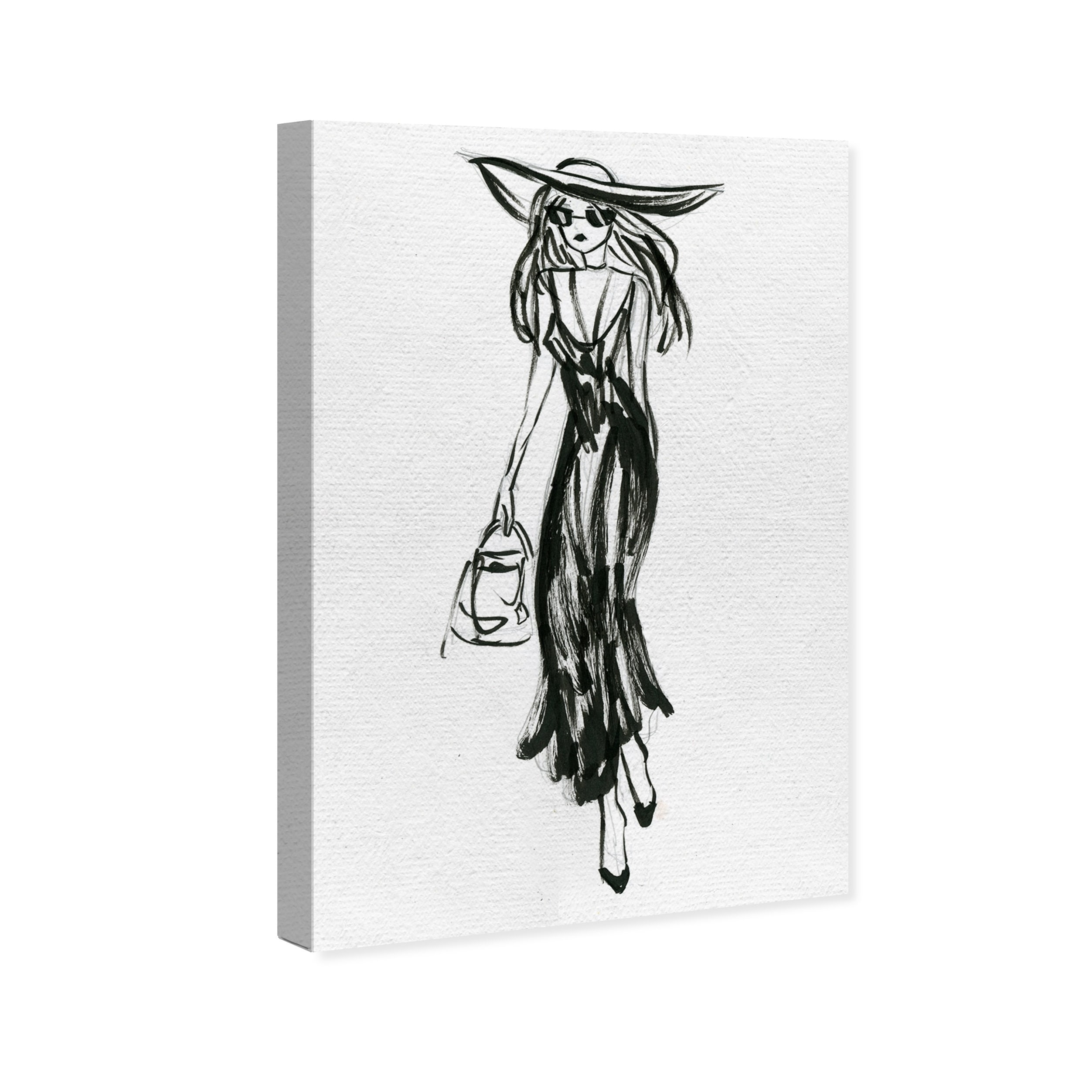 Shop Oliver Gal Fashion Sketch Outing Fashion And Glam Wall Art Canvas Print Black White Overstock 18219364