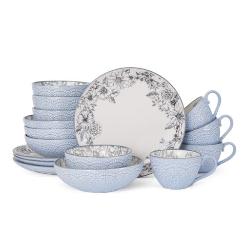 Pfaltzgraff Gabriela Gray 16 Piece Dinnerware Set