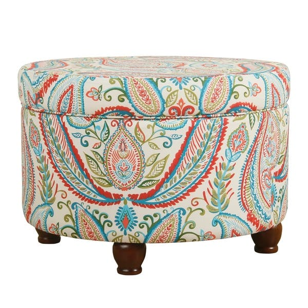 Excellent Shop The Curated Nomad Hector Paisley Storage Ottoman On Gmtry Best Dining Table And Chair Ideas Images Gmtryco