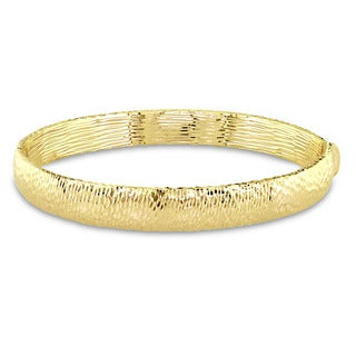 Miadora Signature Collection 14k Yellow Gold Textured Bangle