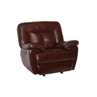 Edwin Top Grain Leather Glider Recliner (Manual/Power)