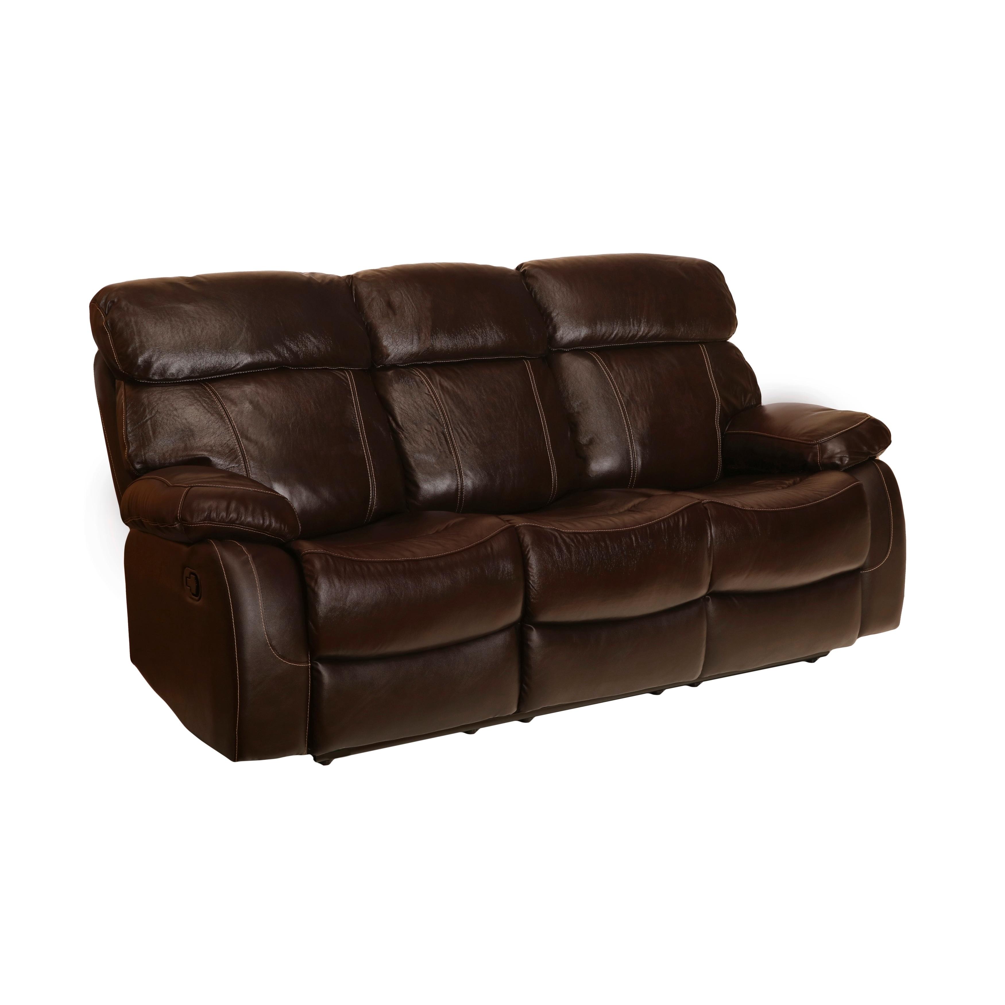 Coleman Top Grain Leather Reclining Sofa (Manual/Power) (Manual Recline)