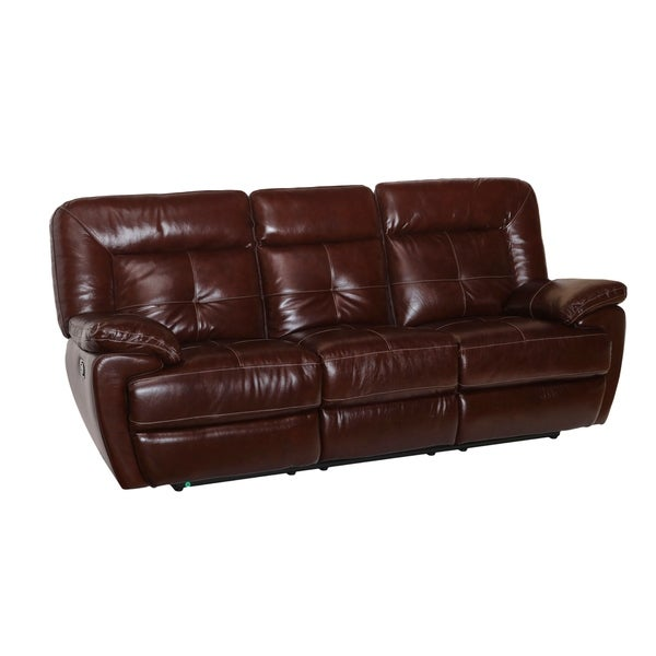 Paloma Reclining Top Grain Leather Sofa
