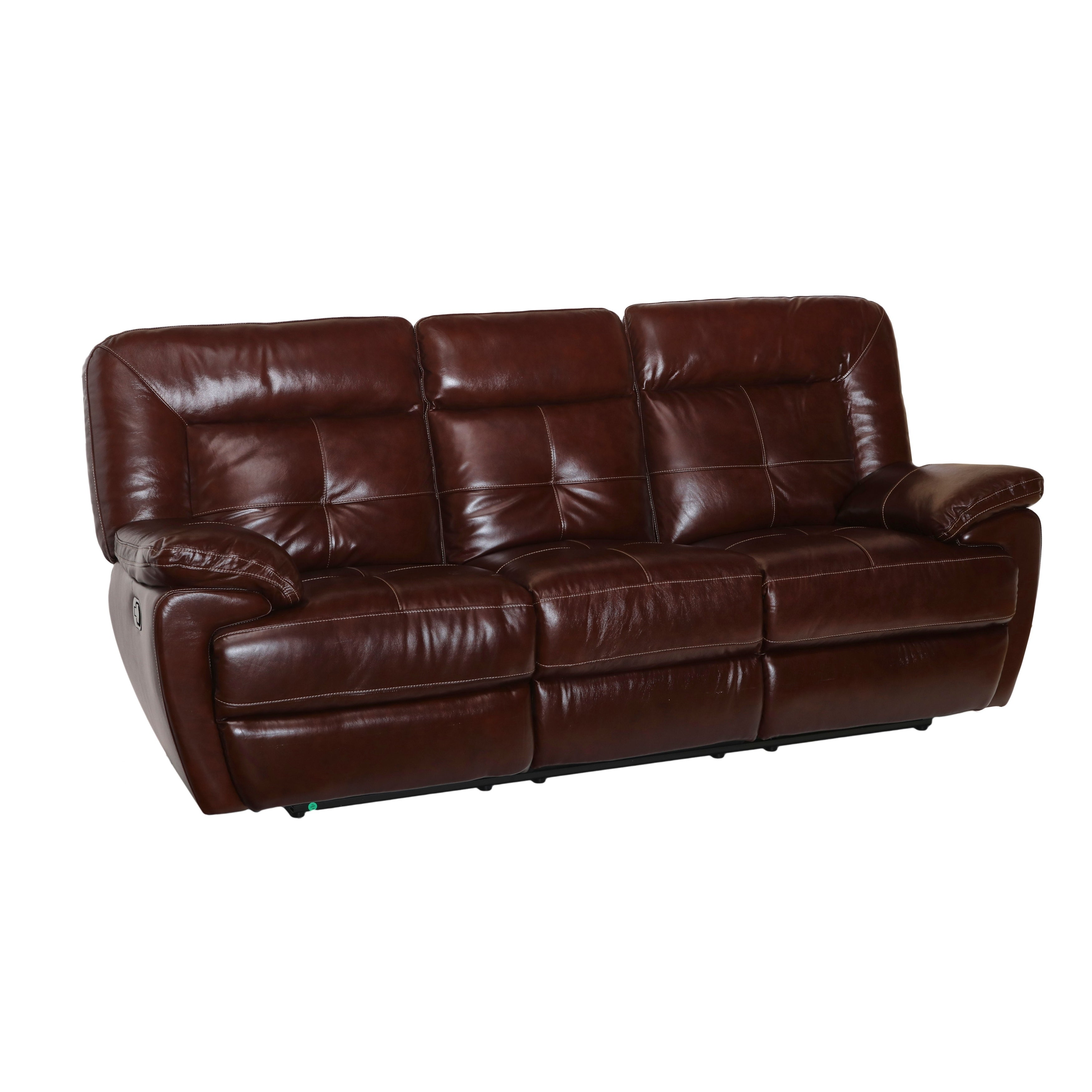 Edwin Top Grain Leather Reclining Sofa Manual Power Ebay