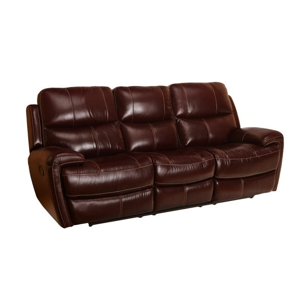 Shop Murphy Top Grain Leather Reclining Sofa Manual Power