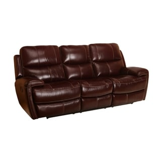 Murphy Top Grain Leather Reclining Sofa (Manual/Power) (Mahogany/Tan)