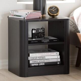 Contemporary 2-Shelf Nightstand by Baxton Studio