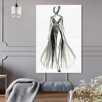 Oliver Gal 'Elegant Dress Ink VIII'Canvas Art