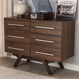 Baxton Studio Brown Mid Century 6 Drawer Dresser