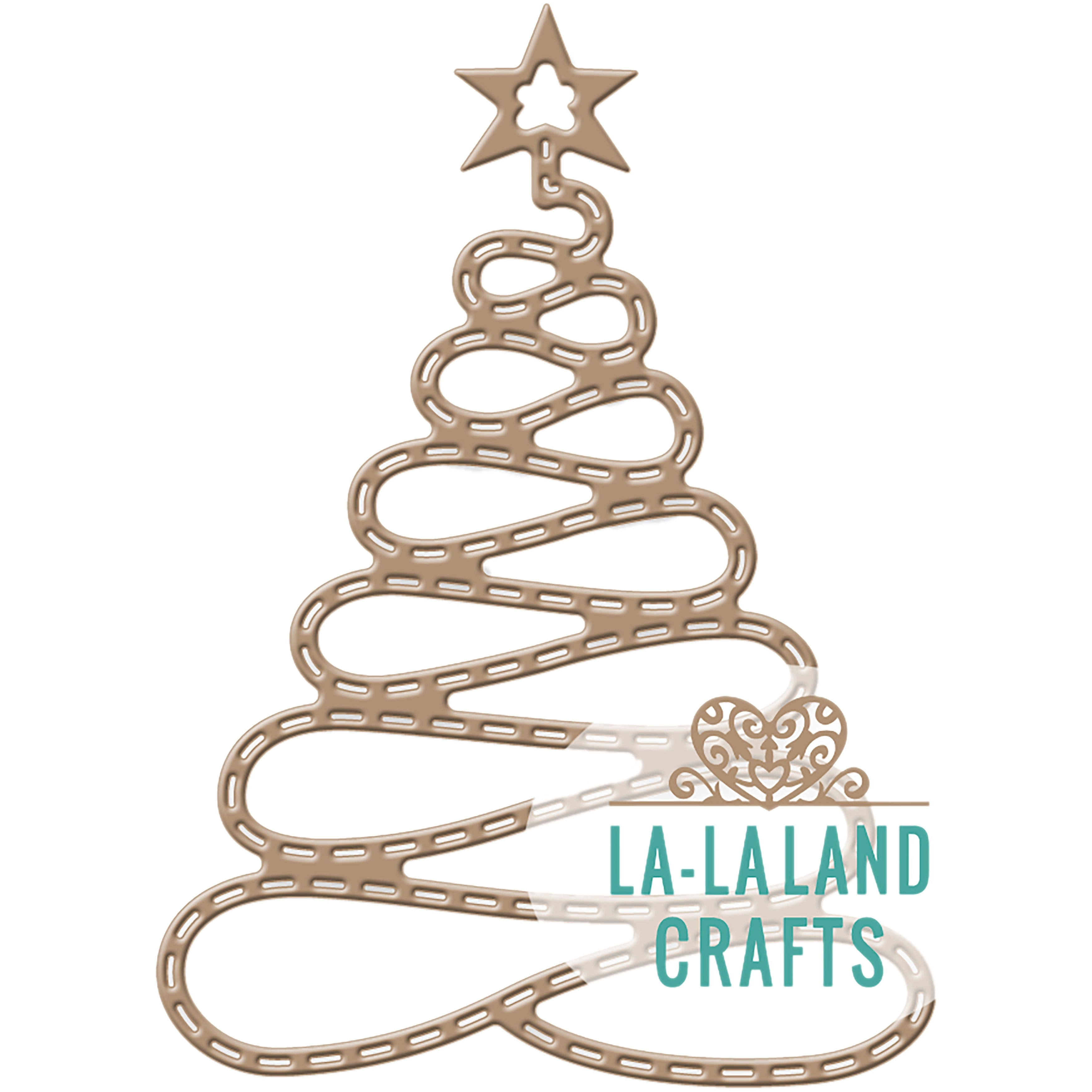 La-La Land Crafts La-La Land Die (Spiral Christmas Tree),...