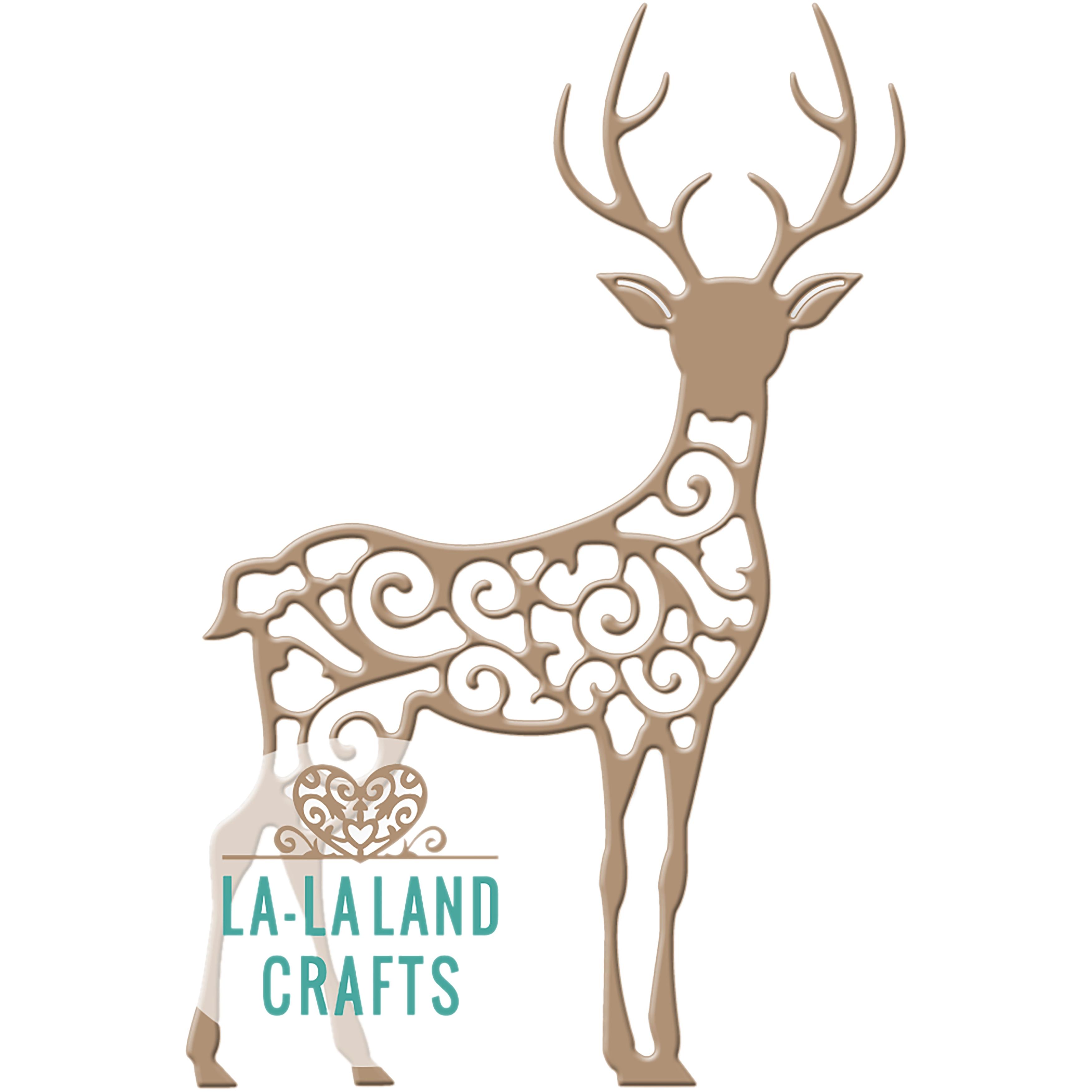 La-La Land Crafts La-La Land Die (Filigree Reindeer 1), S...