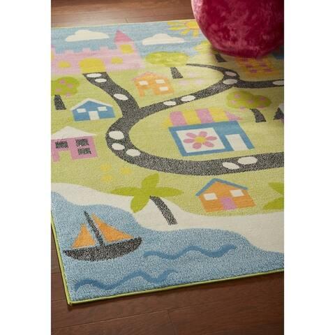 LR Home Whimsical Fairtytale Kids Rug