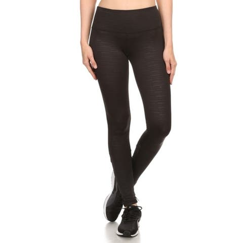 Women's High-Waist Performance Slim Fit Yoga/Workout Leggings - Muted Stripes