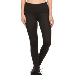 Women's High-Waist Performance Slim Fit Yoga/Workout Leggings - Muted Leopard