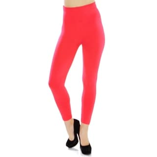 Women's High Waist Fleece Lined Solid Color Stretchy Leggings - Assorted Solid Colors