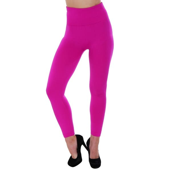 b2214d1a7b6cd7 Women's High Waist Fleece Lined Solid Color Stretchy Leggings - Assorted  Solid Colors