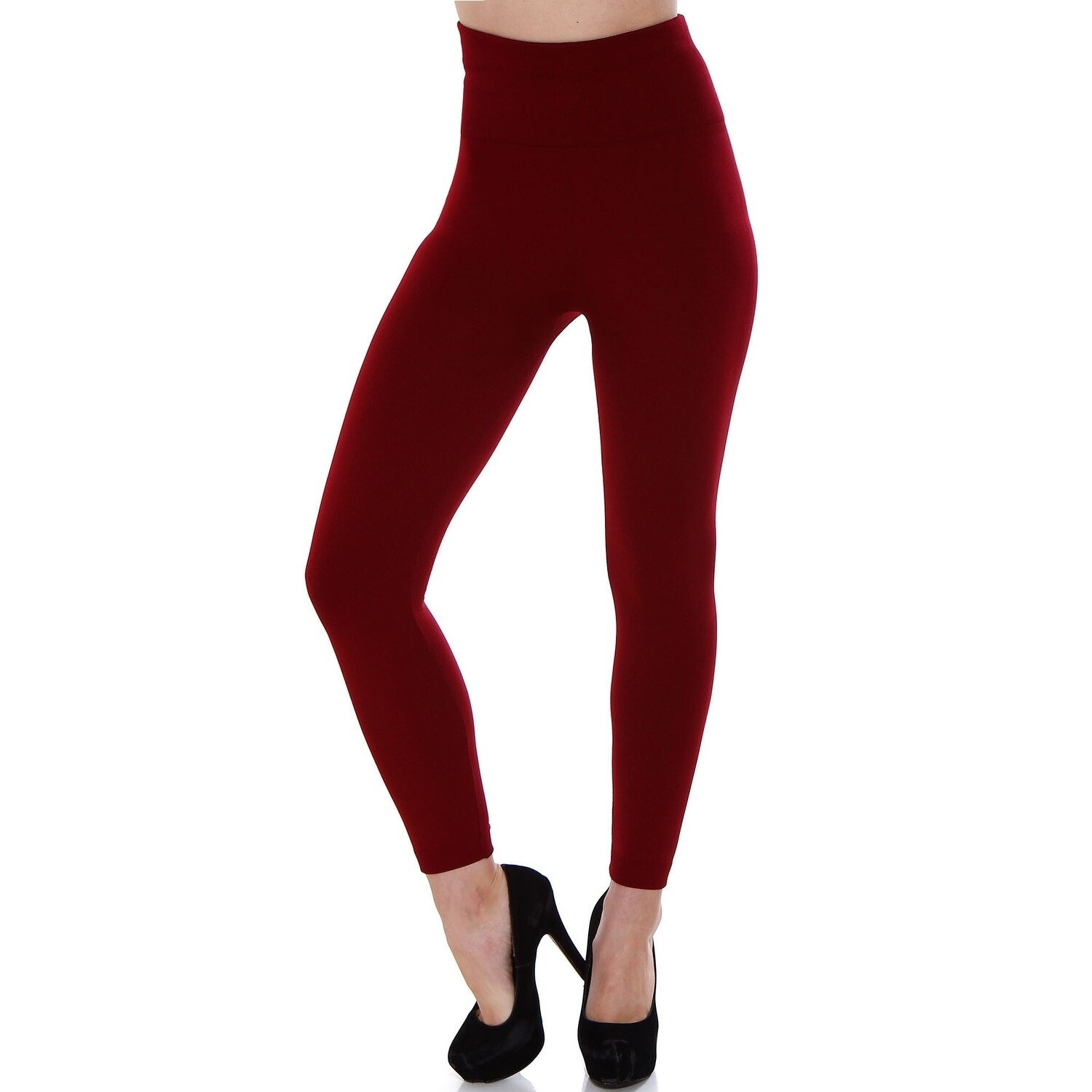 6009990b232831 Shop Women's High Waist Fleece Lined Solid Color Stretchy Leggings -  Assorted Solid Colors - On Sale - Free Shipping On Orders Over $45 -  Overstock - ...