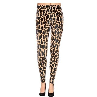 Women's Multi-Pattern Stretchy Full Length Leggings - Giraffe Print - Leopard Print - plus size
