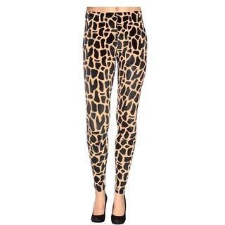 Women's Multi-Pattern Stretchy Full Length Leggings - Giraffe Print