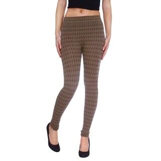Women's Chevron/Zigzag Pattern Hi-Waist Elastic Fashion Legings
