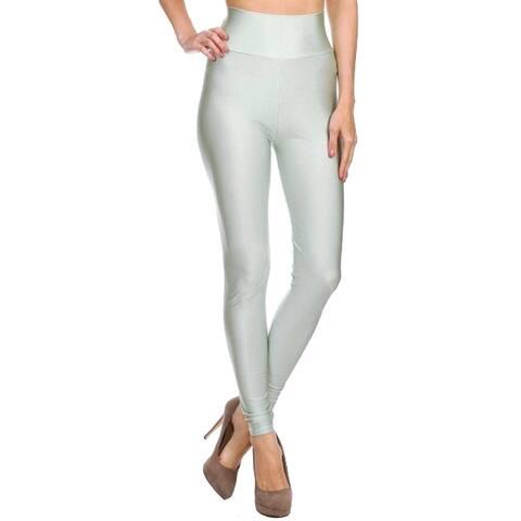 ddfbb96cade Women s Solid Color Basic Full-Length Leggings - Silver Grey