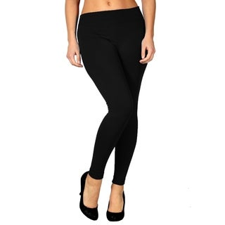 Women's Slim Fit Fleece Lined Stretchy Solid Color Leggings