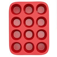 Chef Buddy Silicone Muffin Pan- NonstickReusable Baking Tray