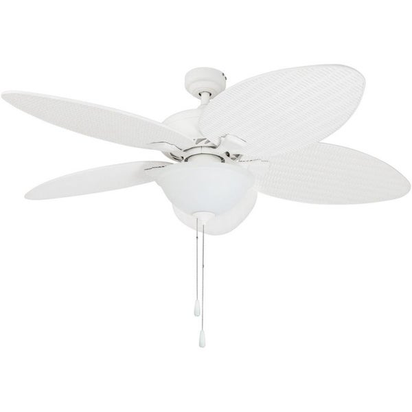 Shop 52 prominence home palm valley tropical led ceiling fan white 52 prominence home palm valley tropical led ceiling fan white aloadofball Image collections