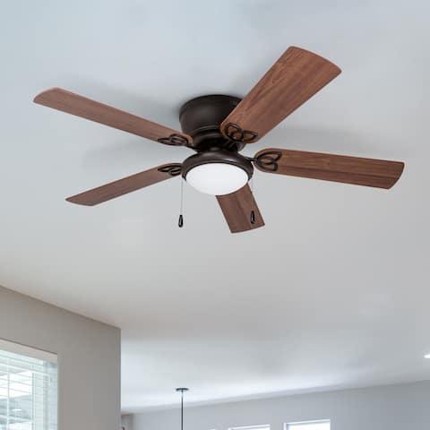 """52"""" Prominence Home Benton Hugger LED Ceiling Fan, Bronze"""
