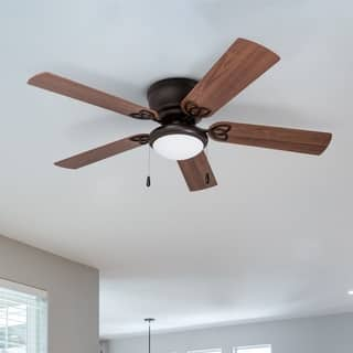 Flush mount ceiling fans for less overstock 52 prominence home brealey hugger led ceiling fan bronze aloadofball Choice Image