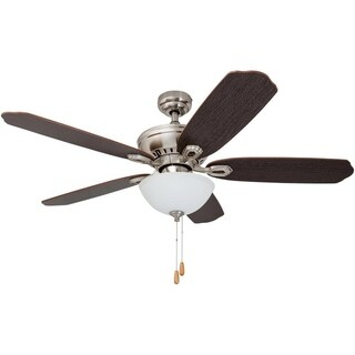 "52"" Prominence Home Spring Hollow Ceiling Fan, Brushed Nickel"