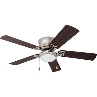 Prominence Home Benton Maple/ Brushed Nickel Hugger LED Ceiling Fan