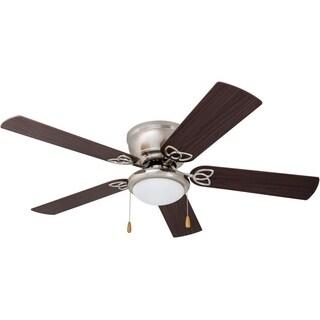 "52"" Prominence Home Benton Hugger LED Ceiling Fan, Brushed Nickel"