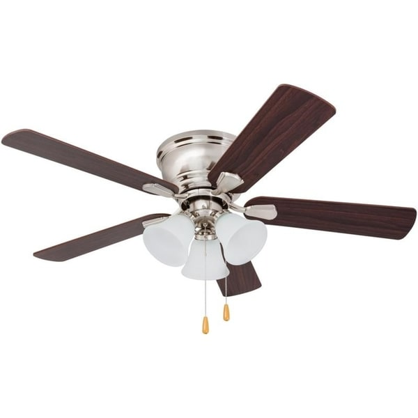 46 prominence home saddle ridge hugger 3 light ceiling fan brushed 46 prominence home saddle ridge hugger 3 light ceiling fan brushed nickel mozeypictures Image collections