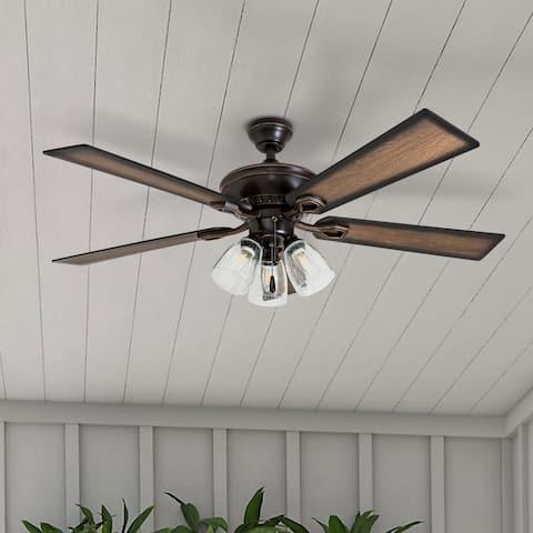 The Gray Barn Hanley Hill Rustic 3-light Ceiling Fan in Oil Rubbed Bronze
