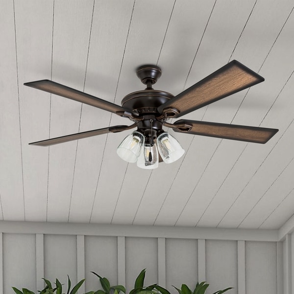 "14 Ceiling Fans That Don T Look Terrible: Shop 52"" Prominence Home Glenmont Rustic Three Light"
