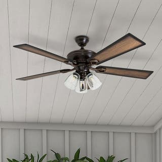 Buy energy efficient ceiling fans online at overstock our best 52 prominence home glenmont rustic three light edison bulb led ceiling fan aloadofball Images