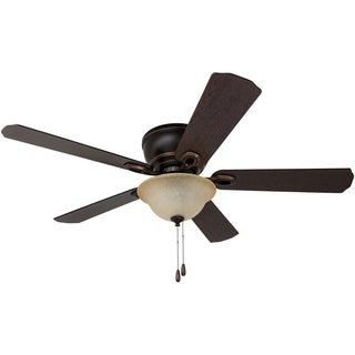 "52"" Prominence Home Coors Creek Hugger Ceiling Fan with Remote Control, Oil-Rubbed Bronze"