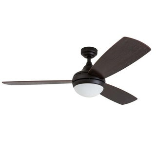 "52"" Calico LED Ceiling Fan with Remote Control, Bronze"