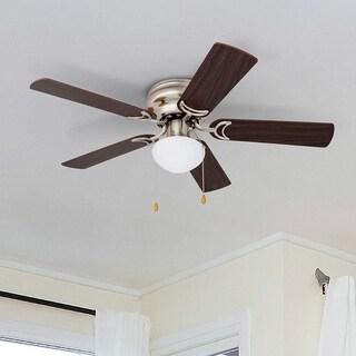 "42"" Prominence Home Alvina LED Hugger Ceiling Fan, Brushed Nickel Finish"