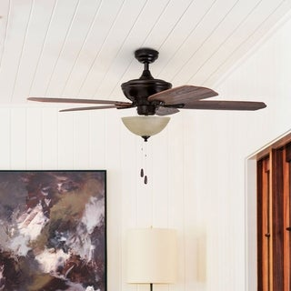 """52"""" Prominence Home Spring Hollow Ceiling Fan, Oil-Rubbed Bronze"""