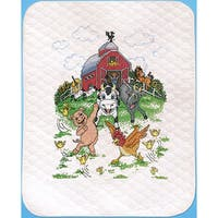 Barnyard Quilt Stamped Cross Stitch Kit