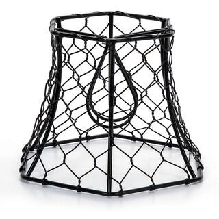"Metal Chickenwire Hexagon Lampshade 5.75""X4"""