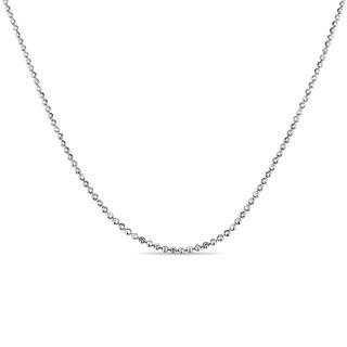 Miadora Signature Collection 18k White Gold Diamond-Cut Beaded Chain Necklace