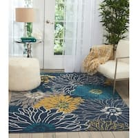 Nourison Passion Collection Blue/Multicolored Indoor Rectangular Area Rug (8' x 10') - 8' X  10'