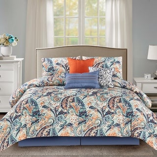 Wonder Home Bea 7PC Microfiber Printed Comforter Set