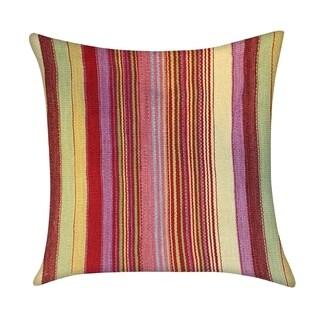 """Pasargad Multi Vintage Tukish Kilim Throw Pillow (18"""" X 18"""")"""