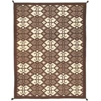 """Pasargad Reversible Grey/Beige Collection Hand-Woven Wool Rug (9' 1"""" X 11' 9"""")"""