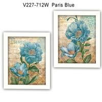"""""""Paris Blue"""" Collection By Ed Wargo, Printed Wall Art, Ready To Hang Framed Poster, White Frame"""