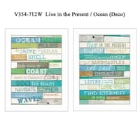 """Live in The Present"" Collection By Marla Rae, Printed Wall Art, Ready To Hang Framed Poster, White Frame"